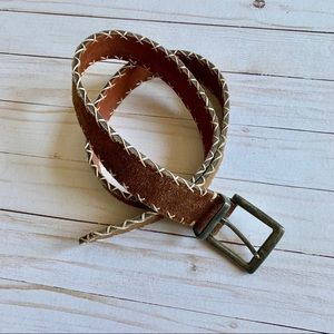Western Style Suede Leather Boho Belt L